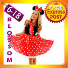 F82 Ladies Minnie Mickey Mouse Fancy Dress Halloween Disney Theme Costume & Ears