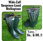 <<WIDE OPENING>> WELLINGTONS Quality Neoprene Lined Outdoor Fishing HUNTING