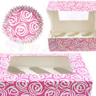 Culpitt PINK ROSE Cupcake CASES and Display BOXES - Baking / Muffin / Bun / Cake