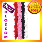 A105 Feather Boa 180cm Burlesque Dance Showgirl Flapper Black Pink White Red