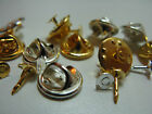 Tie Tac Pin flat pad & squeeze clutch back 4mm x10 Silver or Gold Plated or Mix