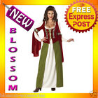 C171 Maid Marian Medieval Renaissance Halloween Fancy Dress Adult Costume