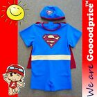 Baby Child Bathing Swimwear With Cap and Amice Superman Style Costume Size Chart