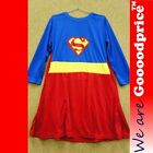Girl Superwoman Fancy Party Costume  Halloween Christmas Party with cape