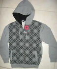 NWT MENS SOUTHPOLE HOODED SWEATER JACKET $60 GRAY