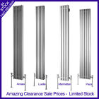 Designer Chrome and Brushed Stainless Steel Vertical Radiators in Various Sizes
