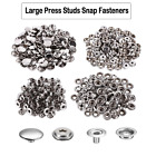 10, 50 or 100 X 15mm LARGE SILVER PRESS STUDS - HEAVY DUTY STUDS 15mm