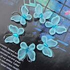 50pcs Stocking Butterflies w/ Glitter Gems Ideal for Wedding Deco /Crafting 30mm