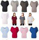 Bella Ladies S M L XL 2XL Flowy Draped Sleeve Dolman T-Shirt Womens Tee 8821