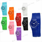 Multi- Colour Men Women Long Stap Fashion Silicone Wrist Watch Free Shipping