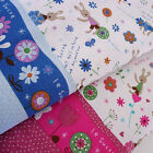 Zakka French Bunny Rabbit Candy Floral Heart Butterfly Cotton Linen Fabric -1/2M