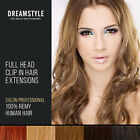 Extra THICK Clip In Remy Real Human Hair Extensions Full Head
