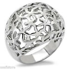 Huge Dome No Stone Silver Stainless Steel Ladies Ring New
