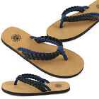 New Paperplanes Womens Non Slip Flip Flops Sports Sandals Black Blue