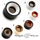 Holz Horn Acryl Flesh Tunnel Tube Ohr Plug Piercing