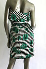 NEW Junior Summer Mini Dress W/ Flower and Stripe printed Loose flare skirt L