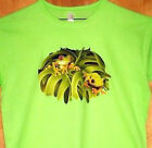 """Ladies Green T Shirt """" FROG'S IN THE TREE'S """" Sz SM - 2XL  Awesome Frog Design"""