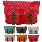 Oilcloth Polka Dots Cross Body Satchel Shoulder Hand School Bag Messenger