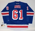 RICK NASH NEW YORK RANGERS REEBOK PREMIER HOME JERSEY NEW W TAGS