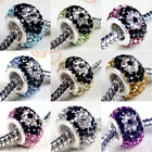Hot Now NEW CZECH CRYSTAL 925 SILVER CORE CHARMS BEAD FIT EUROPEAN BRACELET 1PC