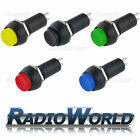 12v Push Button Switch ON - OFF SPST Car Dash Light Red Green Blue Yellow Black