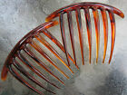 2ea French Twist Hair Comb 7 Teeth Made in Italy Quality Combs Color Choice NEW