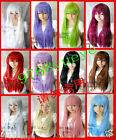 new Style Cosplay long 12 Colors Women's COS Full Health Wig