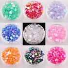 Lots 200 pcs Heart Acryl AB Color Spacer Beads For Jewelry Making Findings 8x4mm