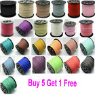 3mm Faux Suede Cord - 5 METERS - Choose From 14 Colours    -  UK Seller