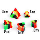 2X Ornate Silicone Triangle Double Hollow Ear Plugs Tunnels Earlets Gauges FR214