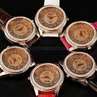 Fashion Rose Gold Case Bling Crystal Women Lady Girl Analog Quartz Watch