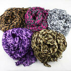 New Elegant Fashion Womens Ladys Printing Cotton Voile Scarf Shawl Leopard Ltk