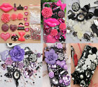 Purple White Pink Anna Lolita Scrapbooking DIY cell i Phone 4S Case Deco Den Kit