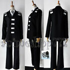 Free shipping Soul Eater Death The Kid Cosplay Costume With 2 Rings