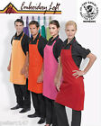 """PACK OF 12 EMBROIDERED PREMIER """"COLOURS"""" BIB APRONS WITH YOUR LOGO NO MORE 2 PAY"""