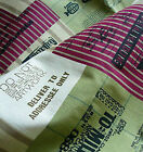 1/2 meter Vintage Chic Retro Funky STAMP AIR MAIL Cotton Linen Fabric
