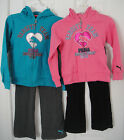 PUMA NWT 2PC Track Suit Sweat Shirt Top Jacket Hoodie Pants Warm Up 48 2 3 4 5 6