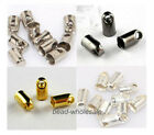 300pcs Blunt Necklace End Tube Tip Findings Diy Bead Caps 2.4mm,3.2mm