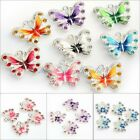 Hot Sell 5pcs/10pcs Enamel Animal Butterfly Pendant For Necklace