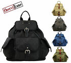 Mens Womens Lorenz High Quality Canvas College Work Backpack Bag Hand Luggage