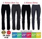Girls Black 2 Button Trousers Miss Chief Sizes 4-16 Skinny/ Slim/ Bootcut