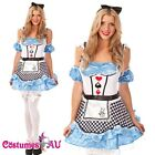 Ladies Alice In Wonderland Fancy Dress Halloween Outfit Disney Theme Costume