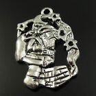 Antique Style Silver Tone Pendants Santa Claus at Chimney Findings 35357-101F