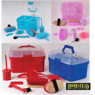 HORSE PONY CHILDRENS COMPLETE GROOMING KIT BOX - 4 COLOURS