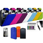 MINI  STYLUS & LEATHER FLIP COVER CASE FOR SAMSUNG GALAXY PHONE SCREEN PROTECTOR