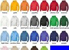 JERZEES NEW Mens Size S-3XL ZIP Nu Blend Hooded Sweatshirt Hoodie Jumper 993
