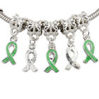 Enamel Ribbon Cancer Disease AWARENESS Dangle European Beads Fit Charm Bracelet
