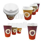 Coffee/Tea Cups & Sip Lids~Disposable Paper 8oz,12oz,16oz Catering Hot Drinks