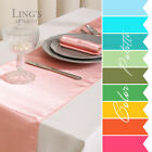 30cm x 275cm Satin Table Runner Decoration Wedding Party Banquet 30 Colours