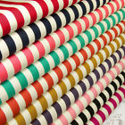 12mm STRIPE VINTAGE PIRATE CANDY RETRO 100% COTTON FABRIC DRESS CRAFT VA14 by FQ